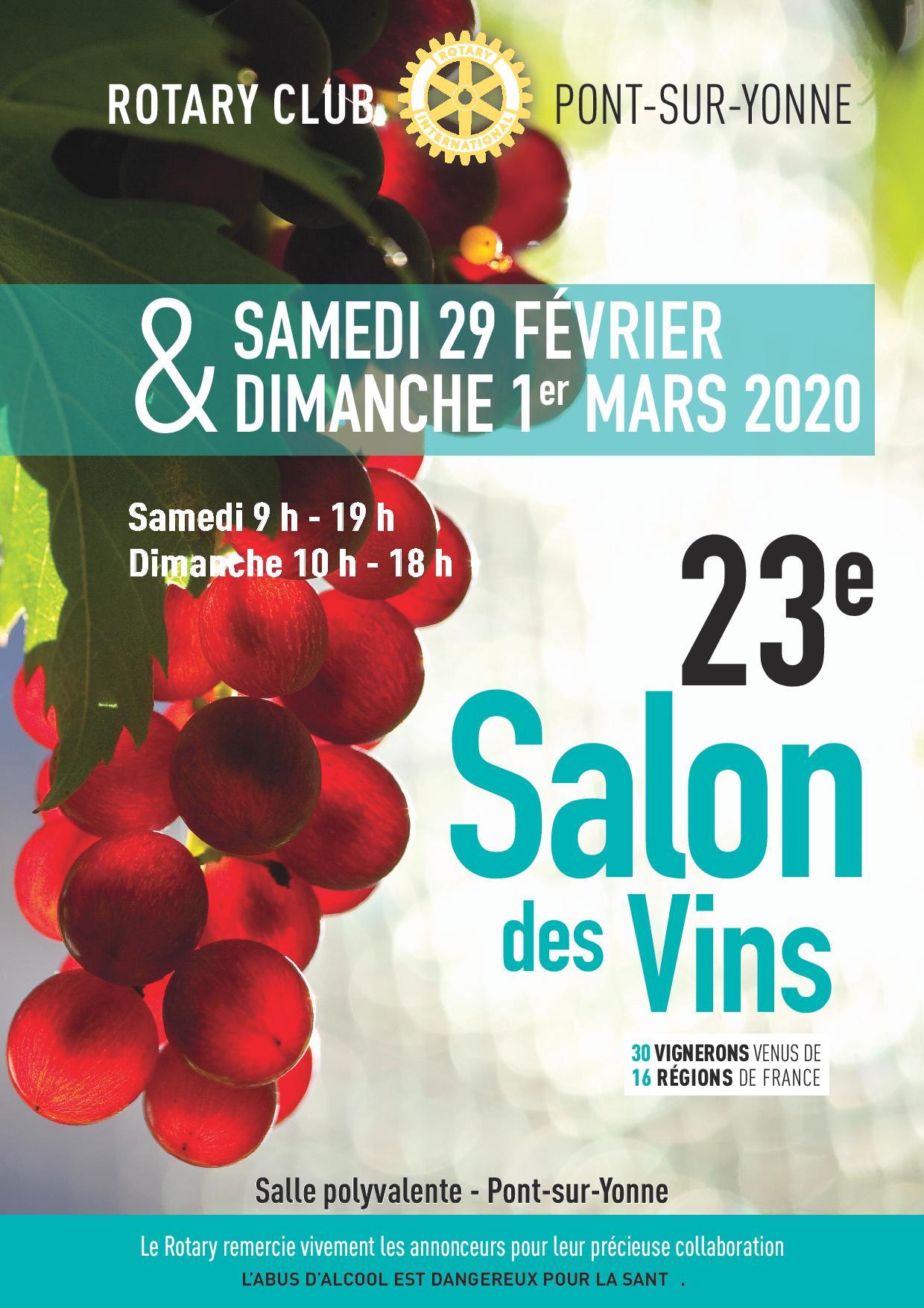 16e Salon des vins / Salle polyvalente - Pont-sur-Yonne - Sens et